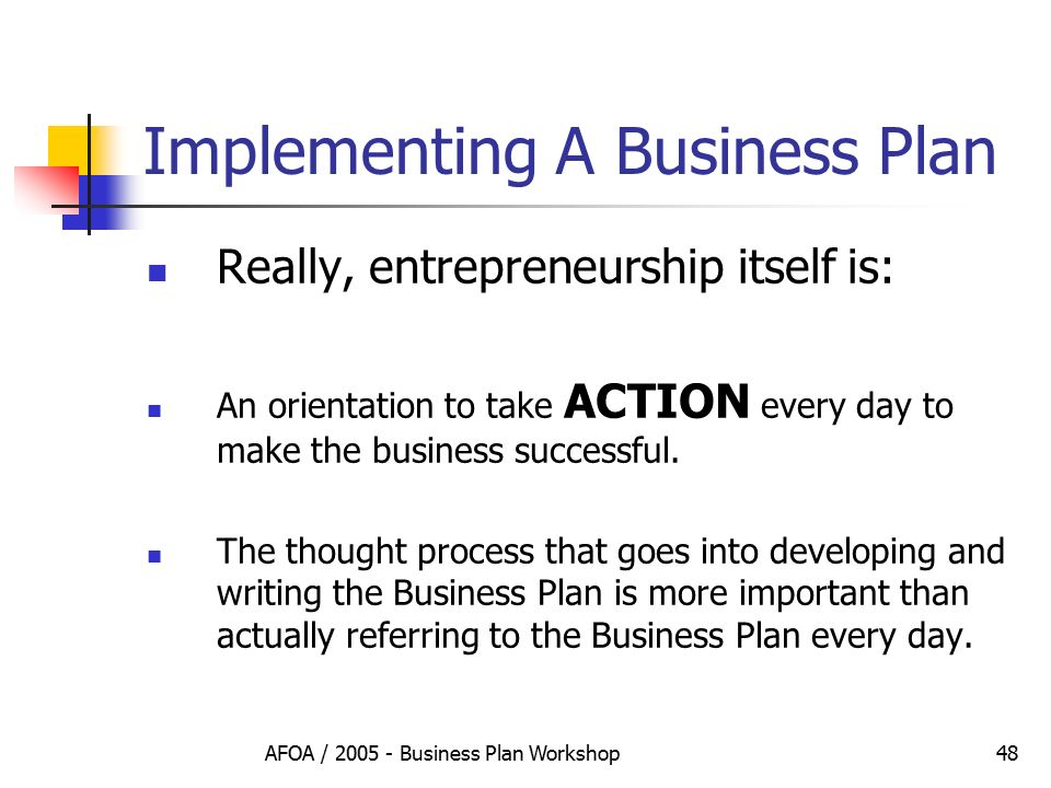develop and implement business plan A list of the units that make up the develop and implement a business plan training package.
