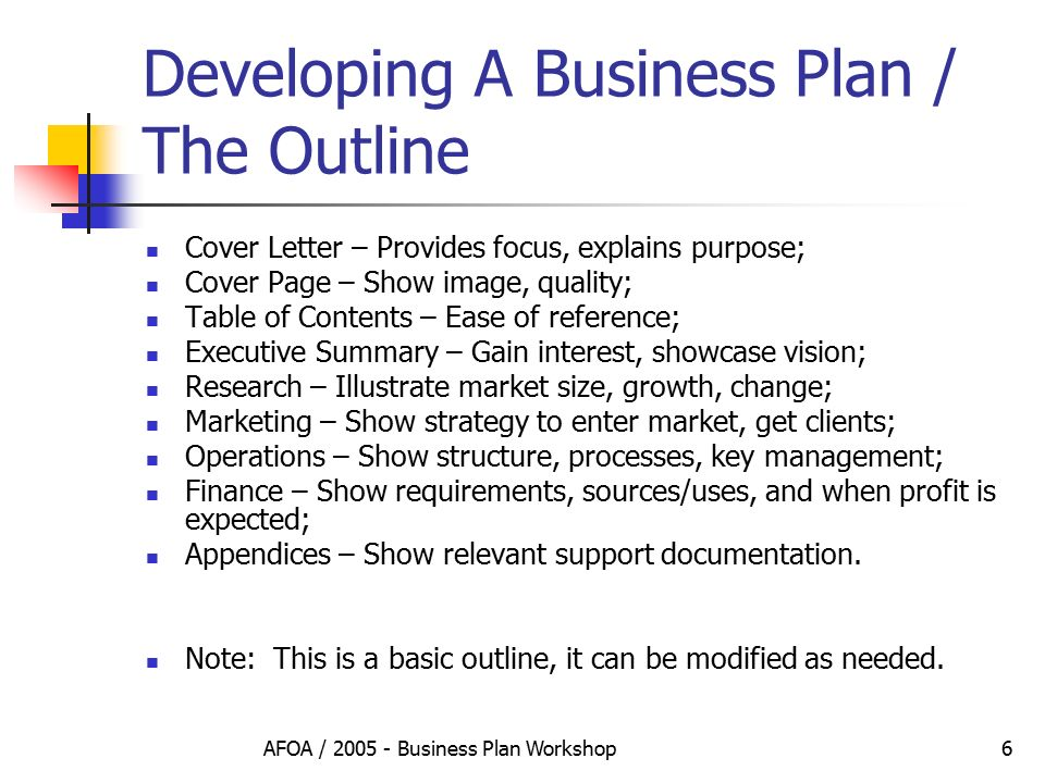 develop a business plan Brainstorming your business plan will help you take it from an idea to a bona fide business get insight and tips here on what to think about.
