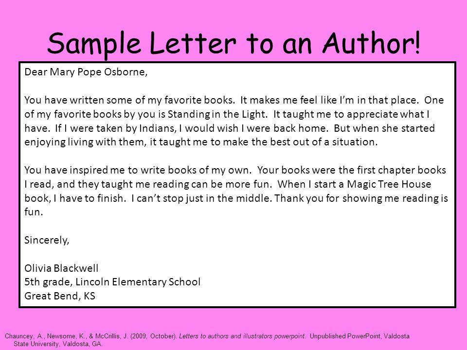 How to Write a Formal Letter to an Author