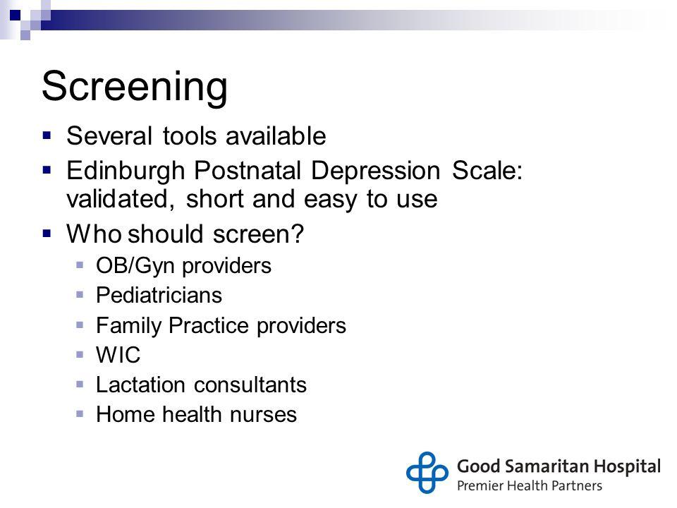postpartum depression screening scale pdf