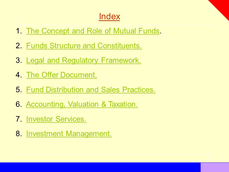 the concept and role of mutual funds - Mutual Fund Accountant