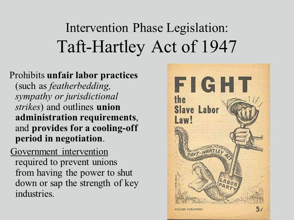 taft hartley act Get information, facts, and pictures about taft-hartley labor act at encyclopediacom make research projects and school reports about taft-hartley labor act easy with credible articles from our free, online encyclopedia and dictionary.