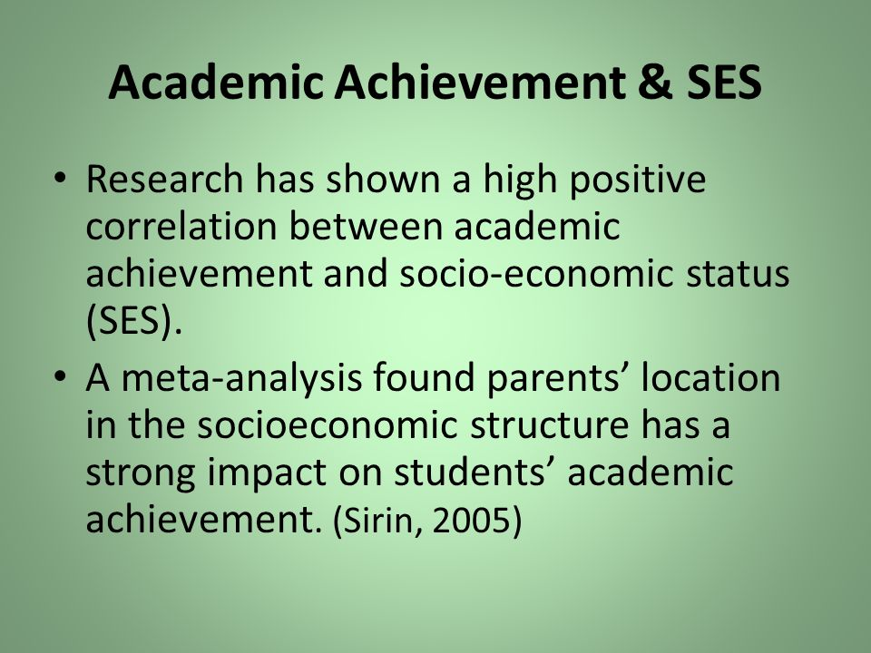A study on the effects of high academic achievements