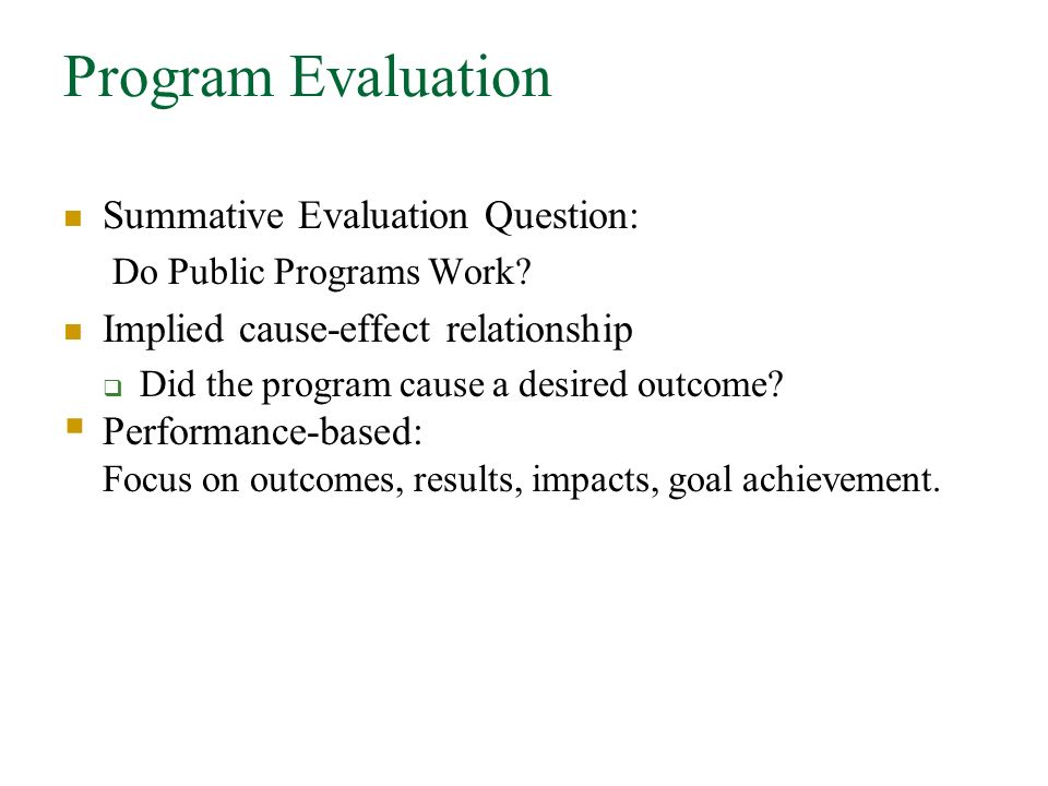 Program Evaluation, Research Design, And The Logic Model - Ppt