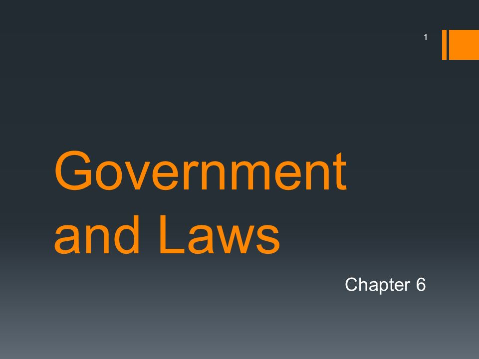 Government and Laws Chapter 6