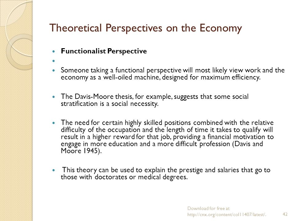 functionalist theory of stratification