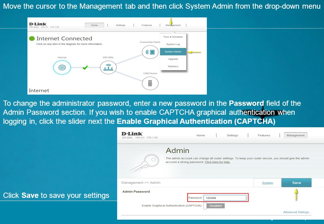 system administrator enable