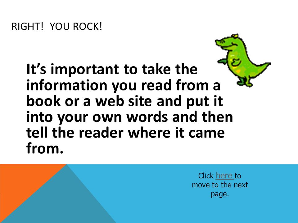 Click here to move to the next page.