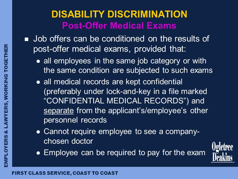 an examination of discrimination in the workplace There are also certain limitation on the ability of companies to dismiss uae nationals discrimination includes failing to make reasonable adjustments to the workplace, or working practices, that would enable a disabled person to meet their occupational requirements, such as refusal to employ a.
