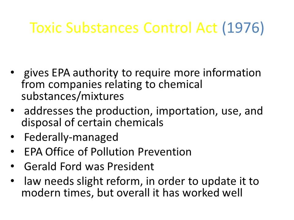 Toxic Substances Control Act (1976)
