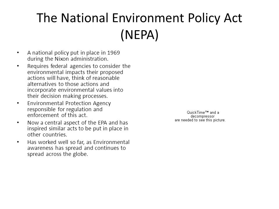 The National Environment Policy Act (NEPA)