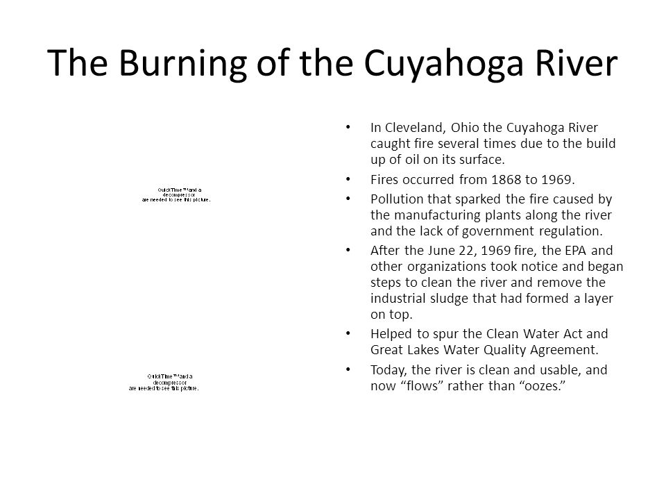 The Burning of the Cuyahoga River