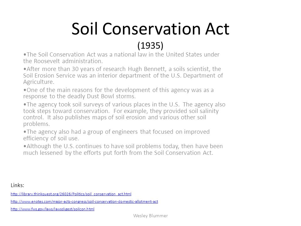 Soil Conservation Act (1935)