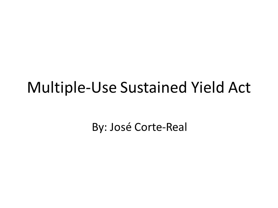 Multiple-Use Sustained Yield Act