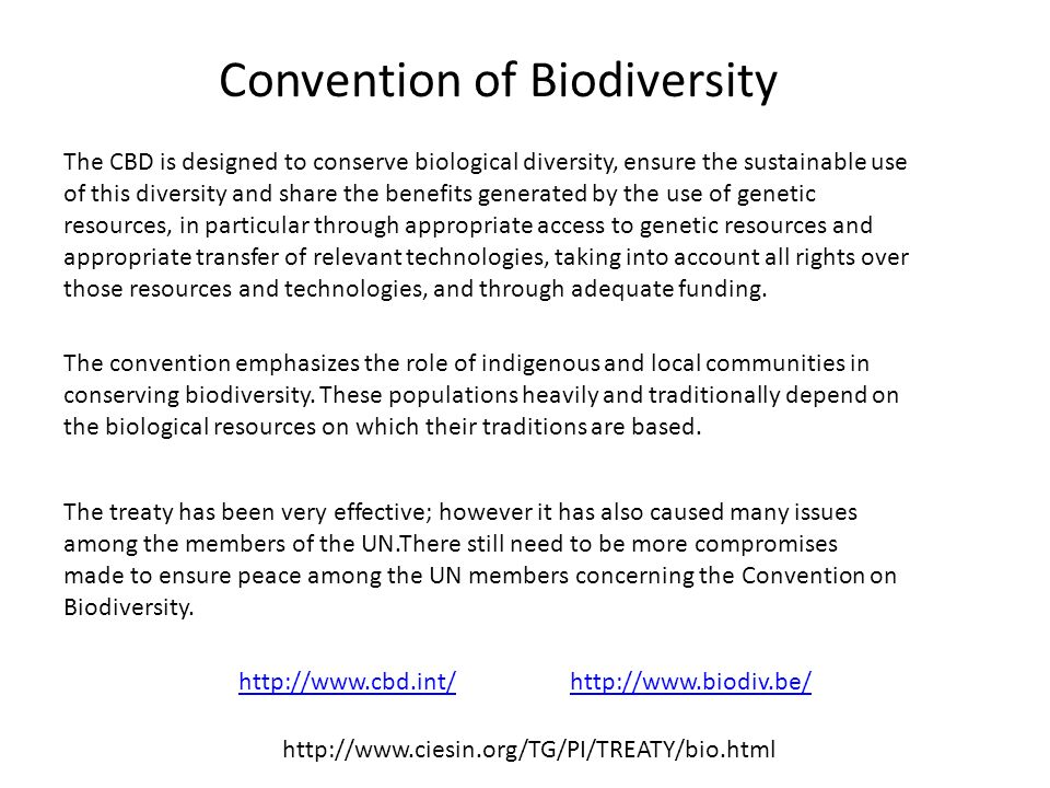 Convention of Biodiversity