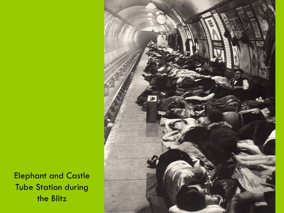 Elephant and Castle Tube Station during the Blitz