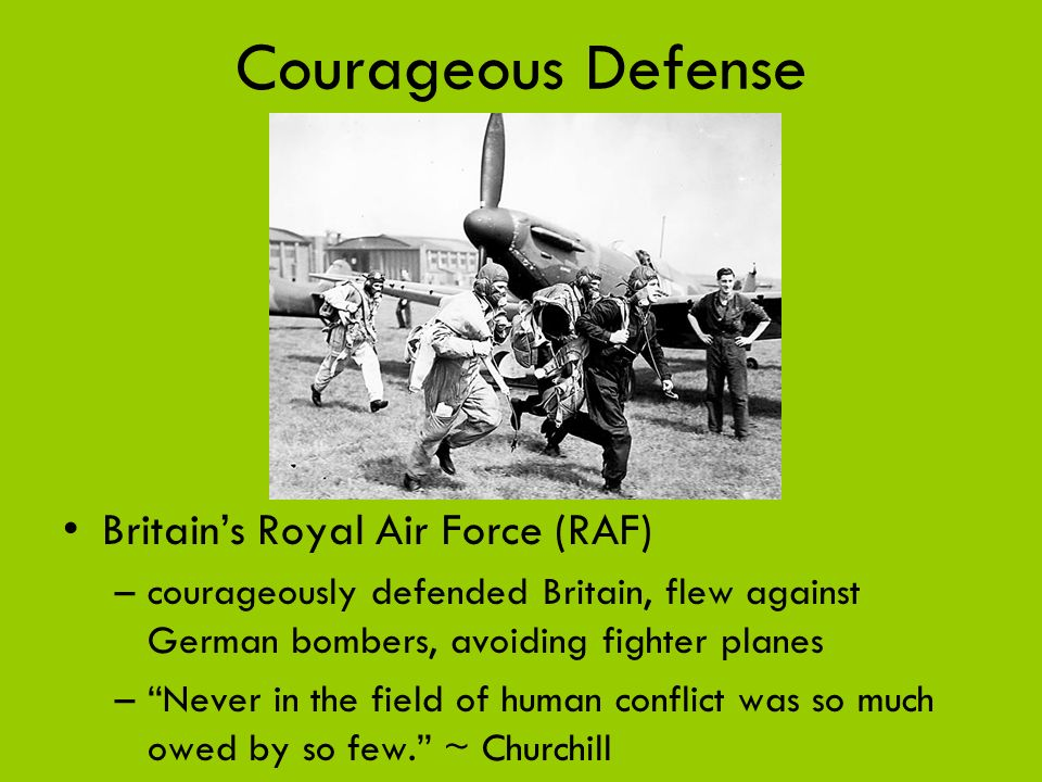 Courageous Defense Britain's Royal Air Force (RAF)