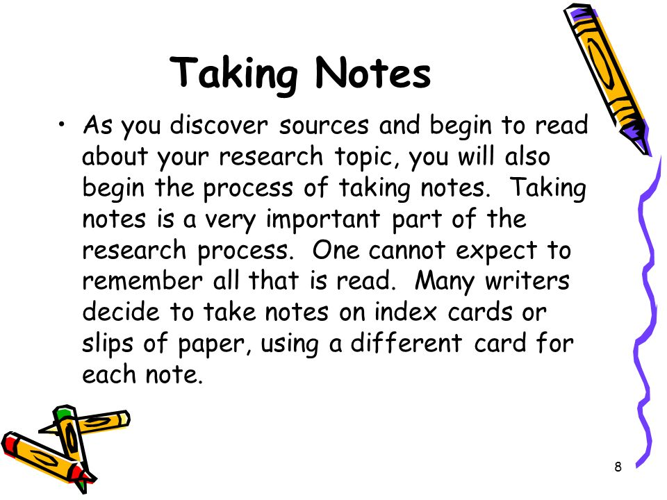 notes on writing a research paper Use these exercises on using footnotes and using endnotes to help you decide between footnotes and endnotes for your research paper.