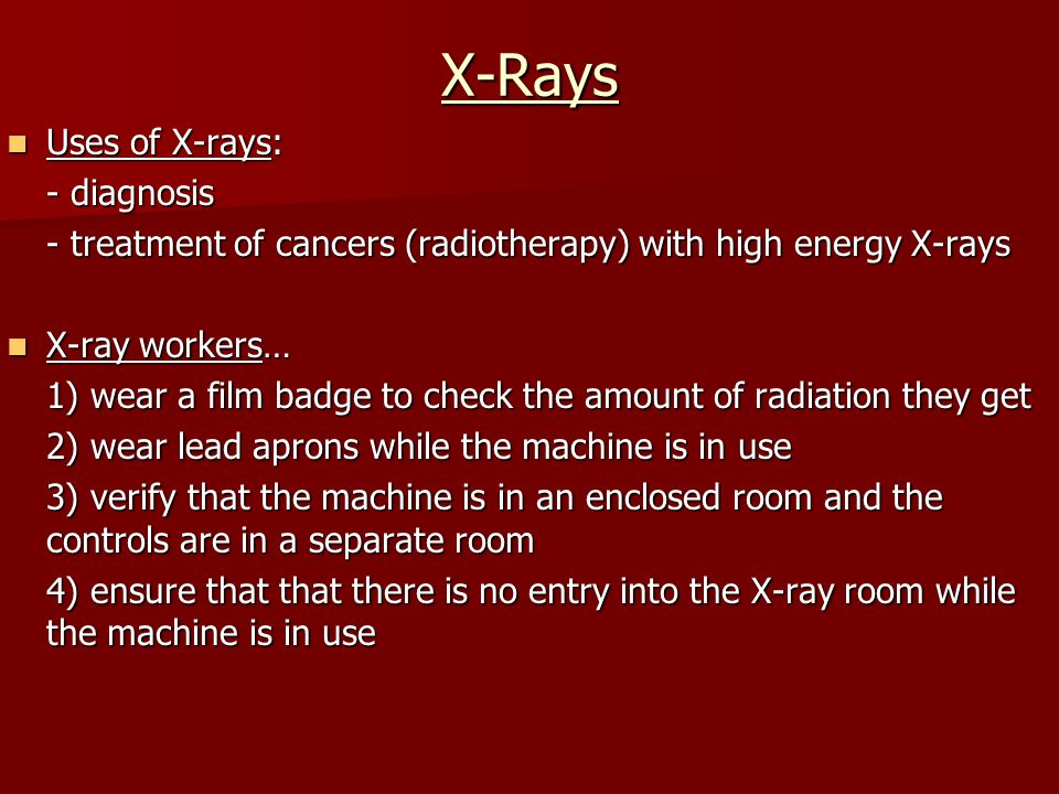 uses of x rays pdf