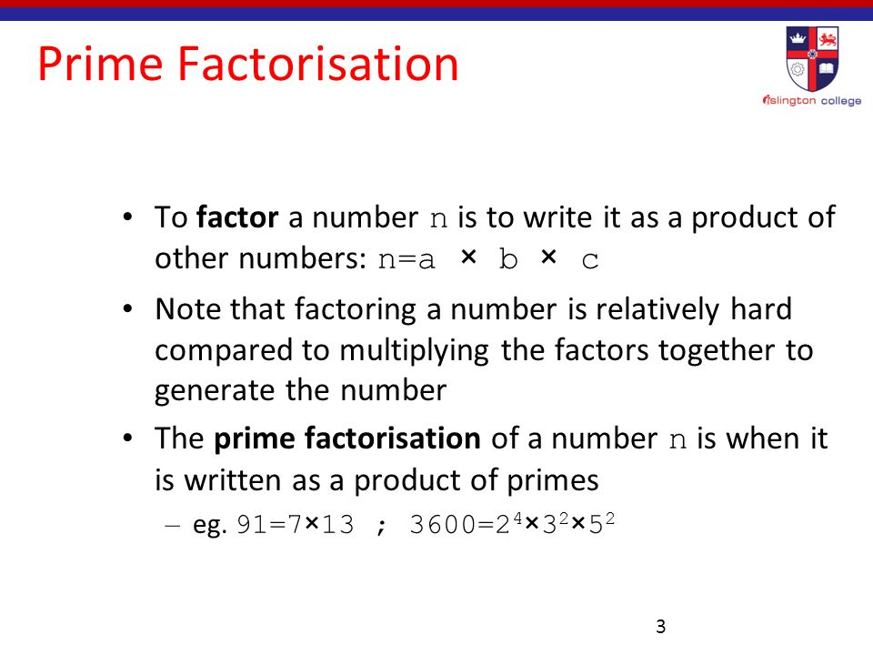 Prime Factorization Using Exponents