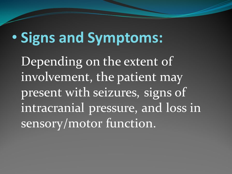 Signs and Symptoms: