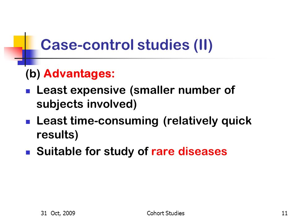 Case control study advantages