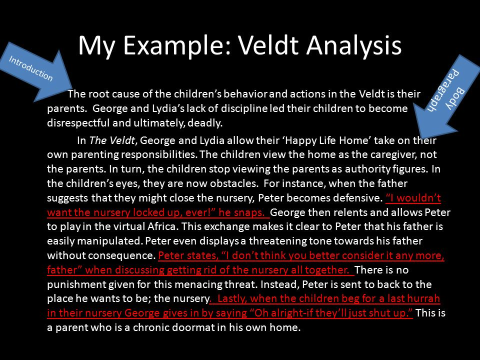 "the veldt"" by ray bradbury ppt video online  my example veldt analysis"