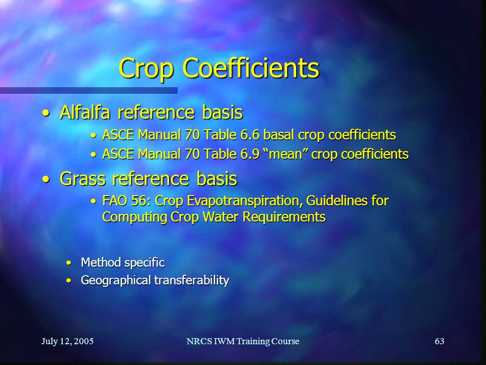 NRCS IWM Training Course