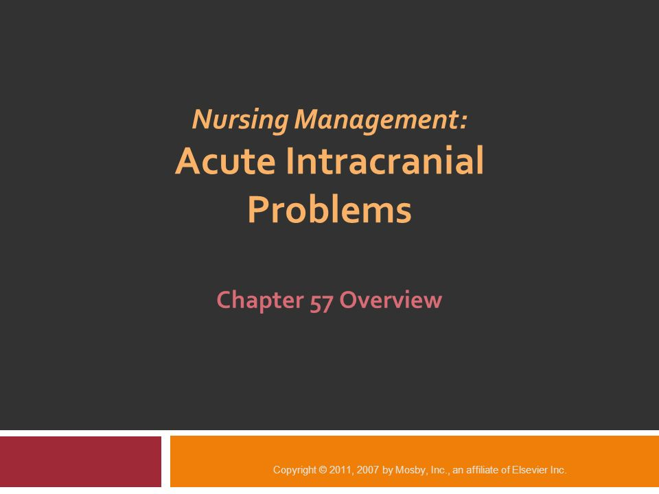 Nursing Management: Acute Intracranial Problems