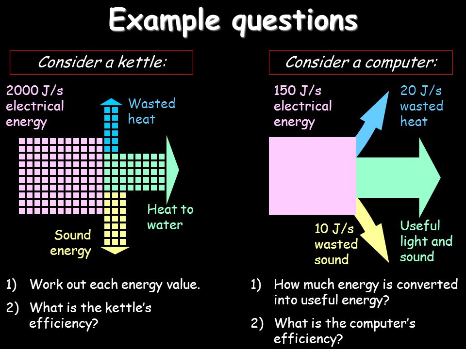 Example questions Consider a computer: Consider a kettle: