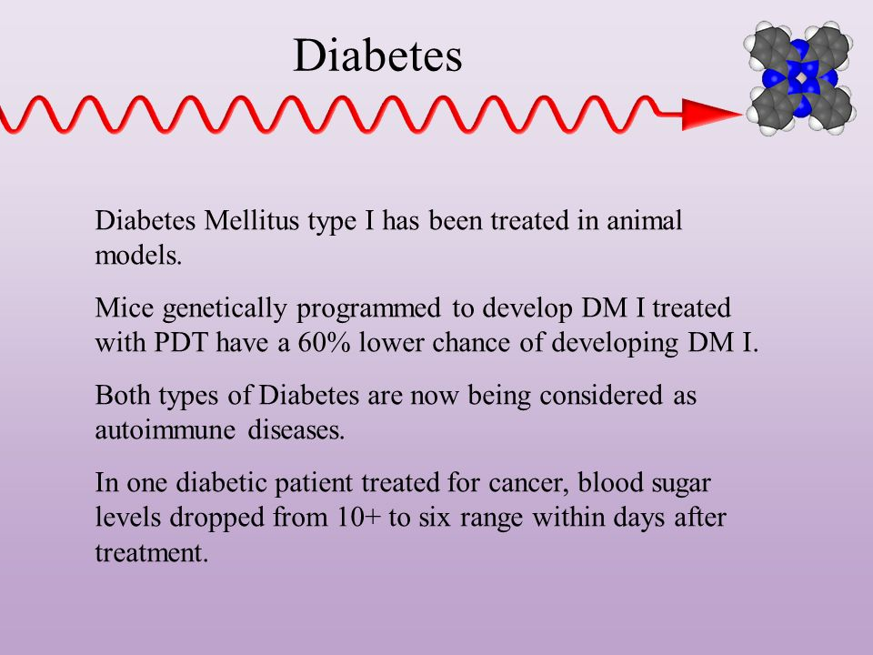 Diabetes Diabetes Mellitus type I has been treated in animal models.