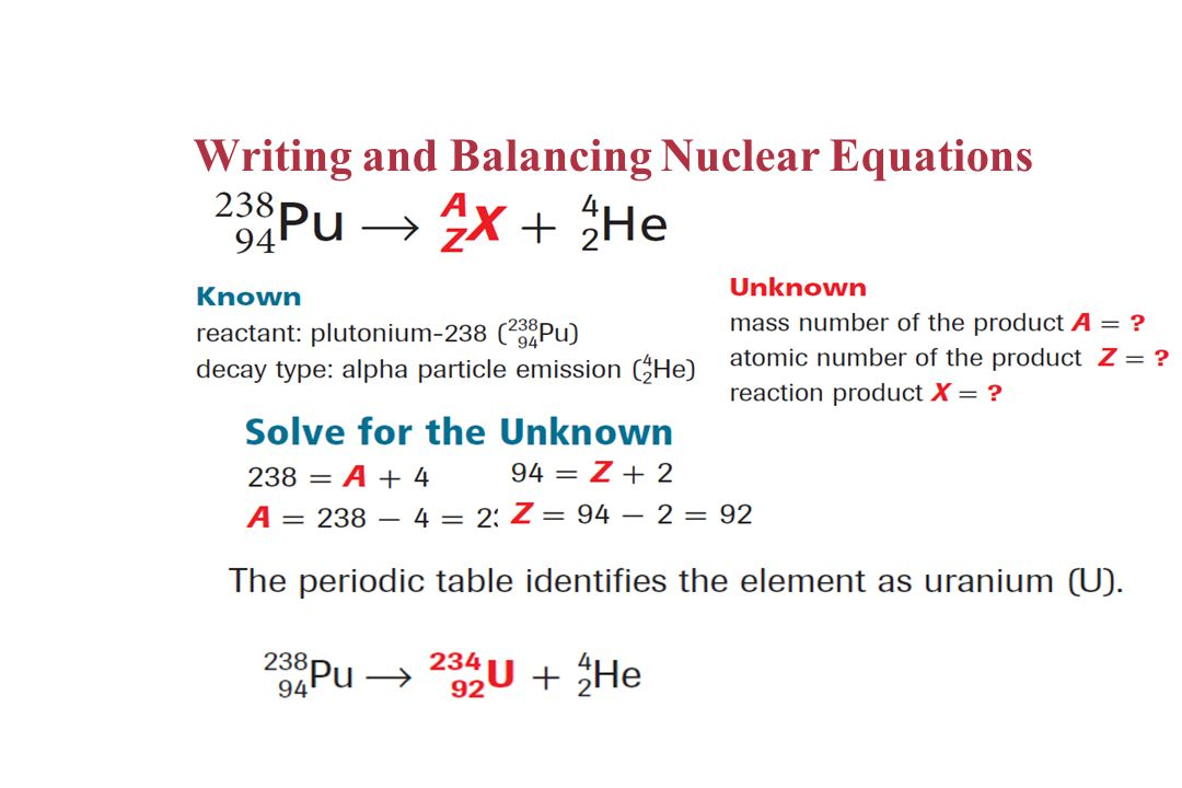 CHAPTER 24 Nuclear Chemistry ppt download – Nuclear Equations Worksheet