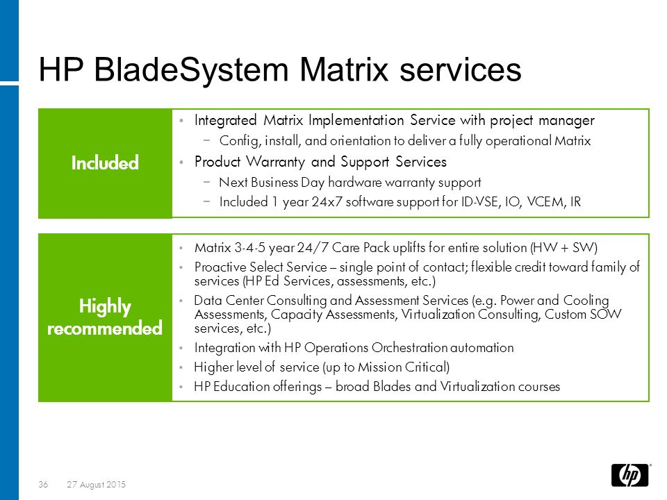 Virtual Classroom Design And Implementation ~ Hp bladesystem matrix introduction overview ppt download