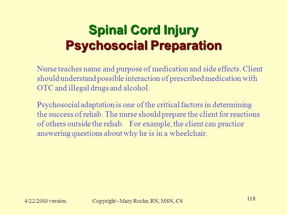 Spinal Cord Injury Psychosocial Preparation