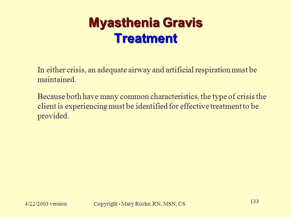 Myasthenia Gravis Treatment