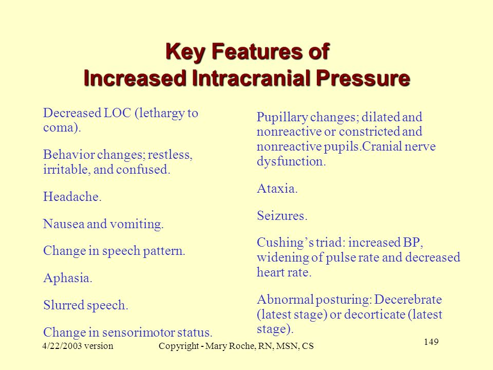 Key Features of Increased Intracranial Pressure