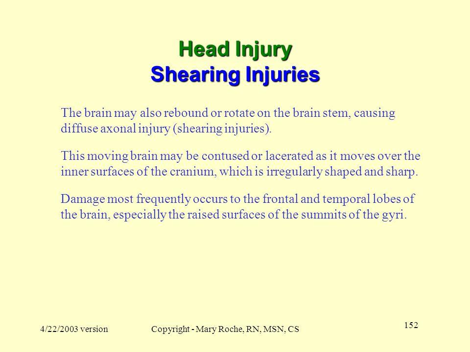Head Injury Shearing Injuries