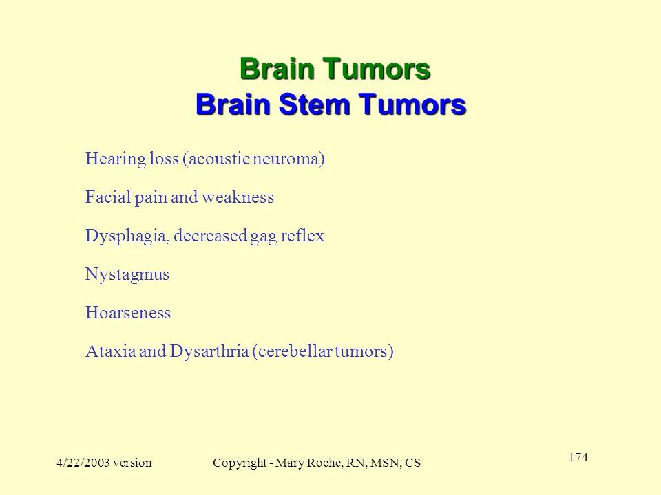Brain Tumors Brain Stem Tumors