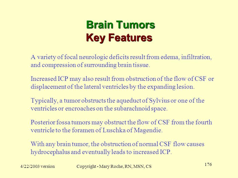 Brain Tumors Key Features