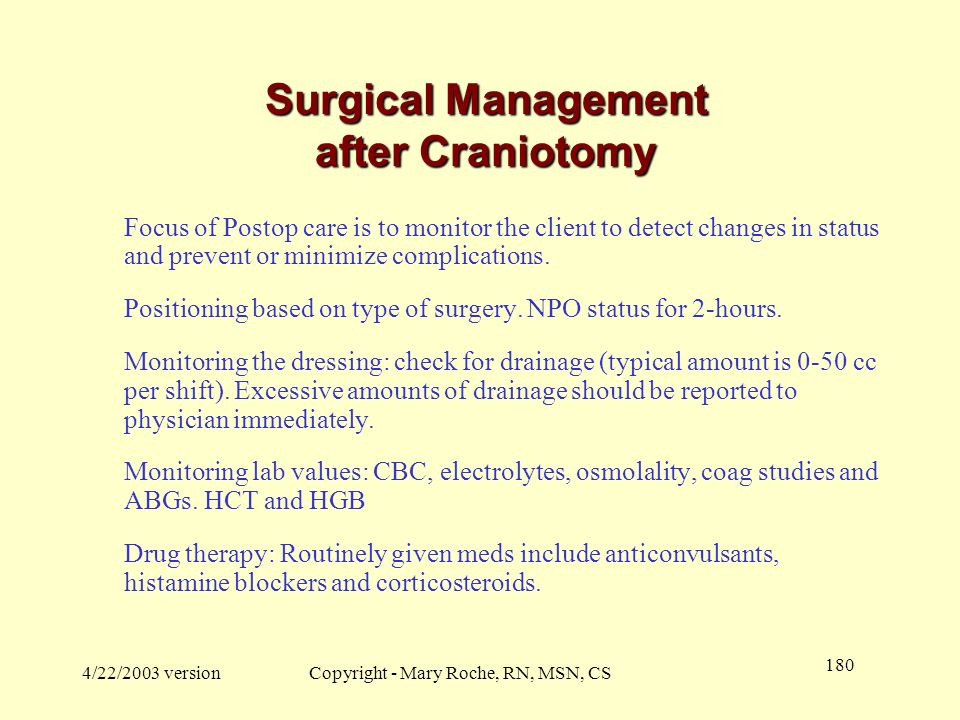 Surgical Management after Craniotomy