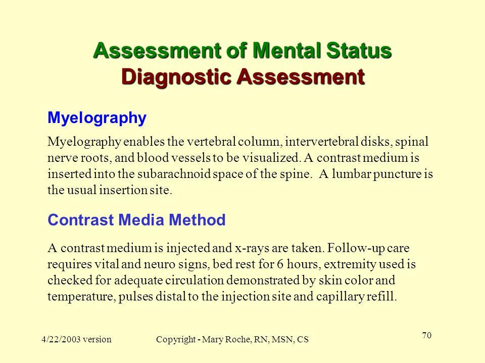 Assessment of Mental Status Diagnostic Assessment
