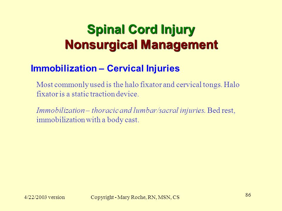 Spinal Cord Injury Nonsurgical Management