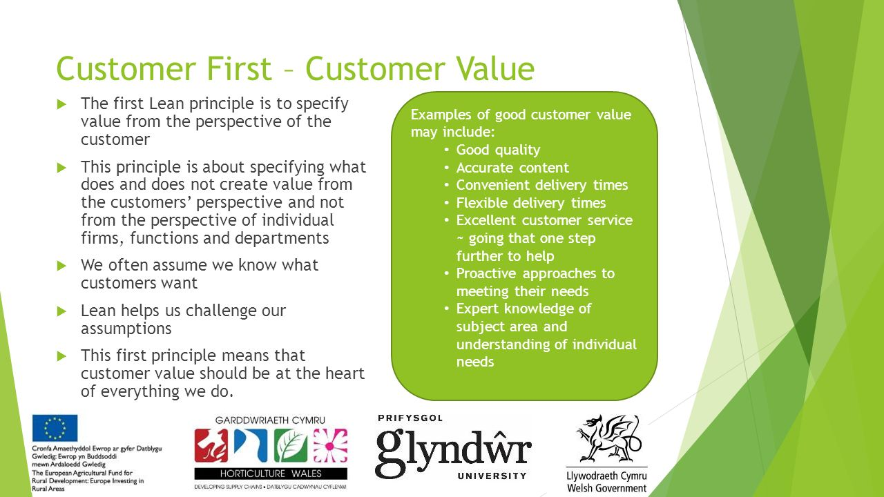 the heart of customer value Inspire people to improve customer value — heart organizations whose people share a clear sense of who they are and the impact they are trying to have on the world can overcome internal barriers to improving customer value for example, hospitals attract employees who care about people, want to.