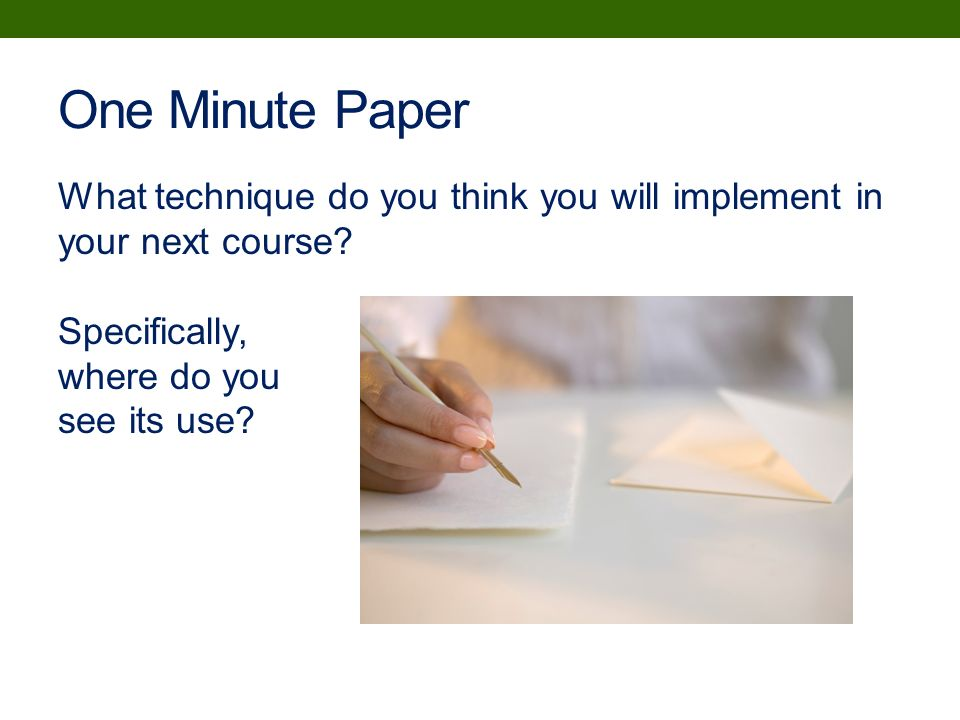 One Minute Papers