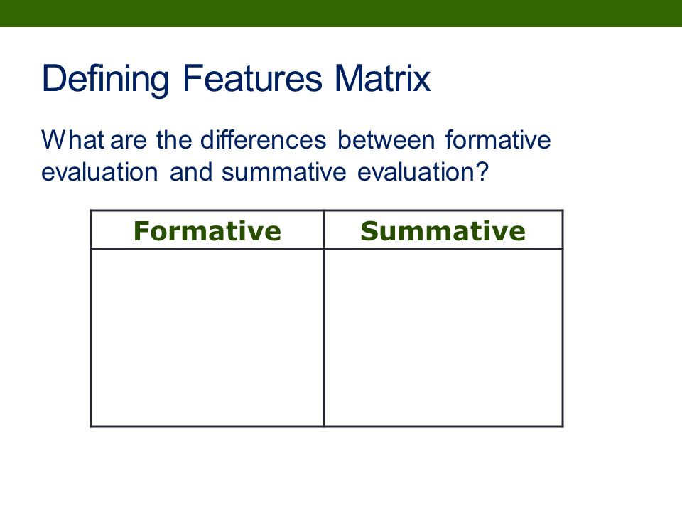 formative and summative evaluations essay Formative and summative assessments both check for understanding formative assessments may decrease a student's test anxiety that usually comes at the end of a lesson.