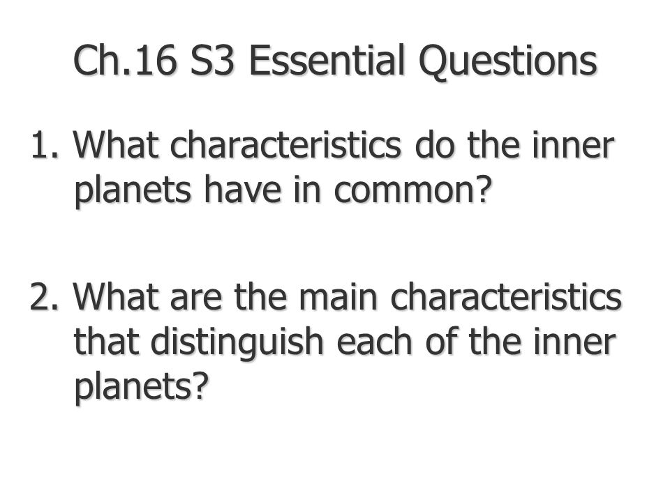 chapter 16 essential questions Chapter 15 - chapter 16 chapter 17 - chapter 18 students should be encouraged to reflect upon these essential questions while reading the novel.
