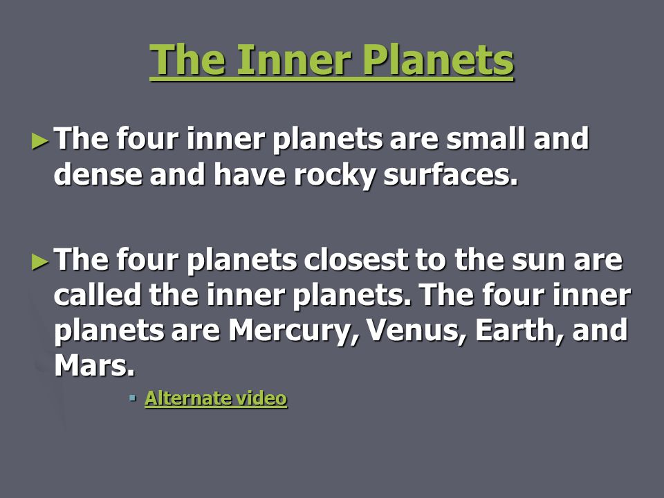 Chapter 16 Section 3 Inner Planets. - ppt download