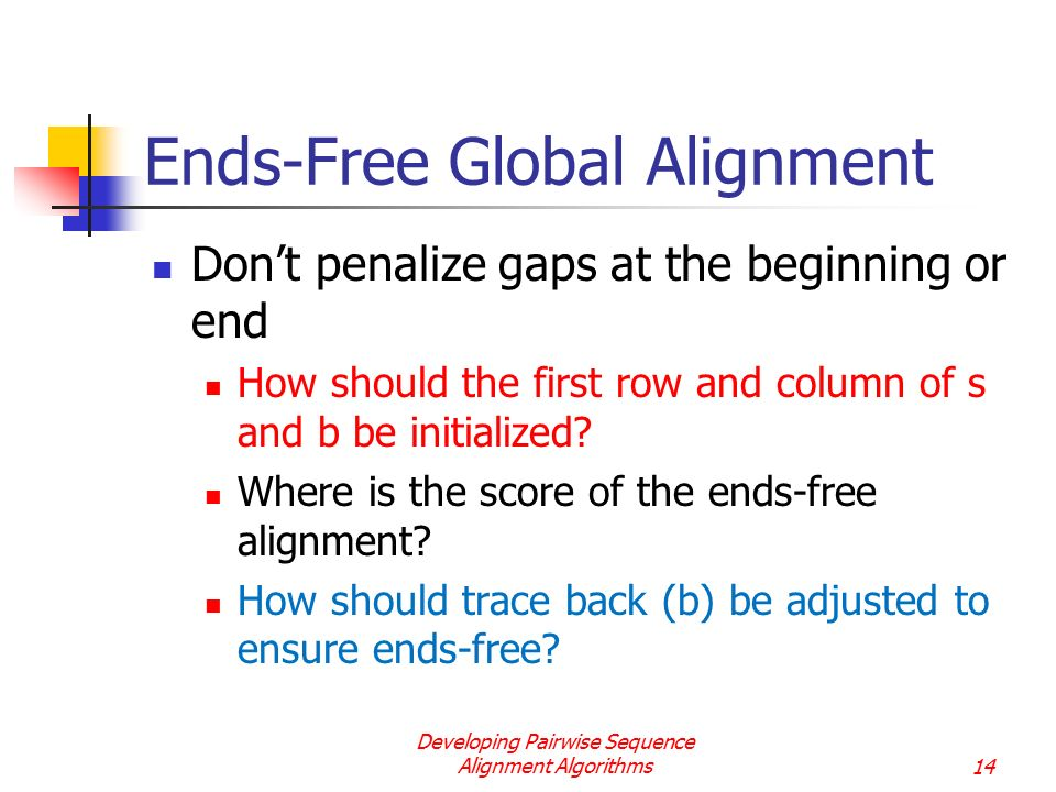 Ends-Free Global Alignment