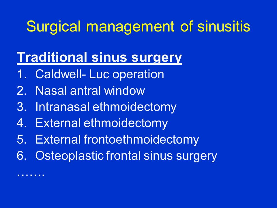 Surgical management of sinusitis