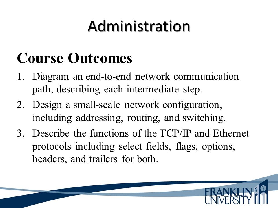 ITEC 275 Computer Networks – Switching, Routing, and WANs ...